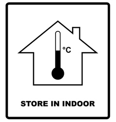 Store in indoor temperature sign cargo shipping vector