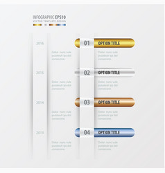 Timeline design gold bronze silver blue color vector