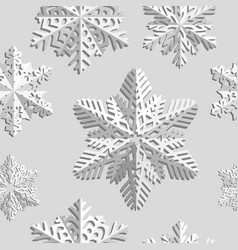 Winter seamless background with snowflakes winter vector
