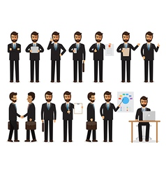 Businessman characters in action vector