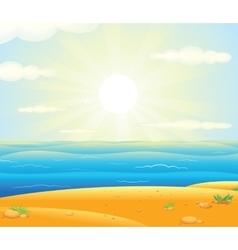 Sunrise over the Tropical Beach vector image