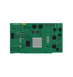 electric circuit board vector image