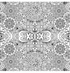 Decorative pattern with flowers and leaves vector