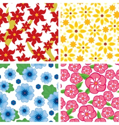 Flower pattern set vector