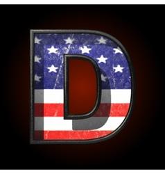 American metal figure d vector image