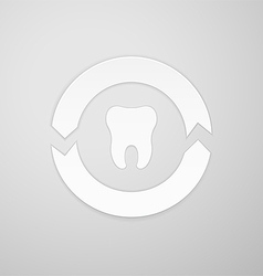 Two arrows in a circle around the tooth vector