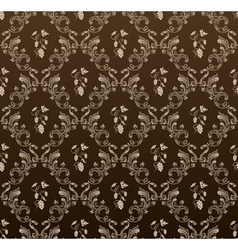 Seamless wallpaper background grapes black vintage vector