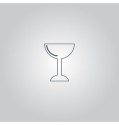 drink wineglass vector image