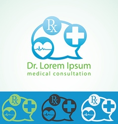 Medical pharmacy logo design template medic cross vector