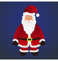 Colorful cartoon santa claus with red outfit eps10 vector