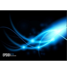 Abstract energy formation - blue theme vector