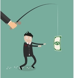 Hypnosed by money businessman vector