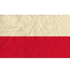 Poland paper flag vector