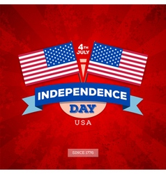 Independence day of america typography design vector