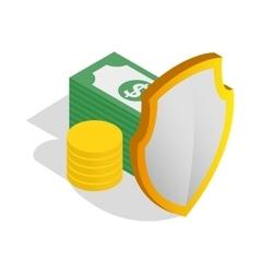 Money savings icon isometric 3d style vector