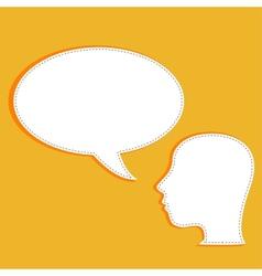 Talking head with speech bubble vector