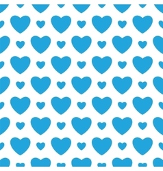 White background with blue hearts vector