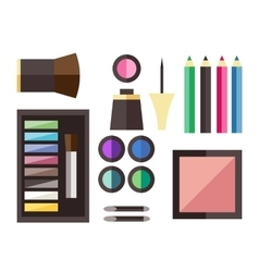 Beauty cosmetic icons vector