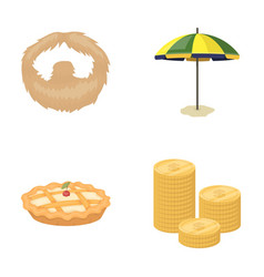 Beauty food and other web icon in cartoon style vector