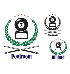 Billiard or pool badges or emblems vector