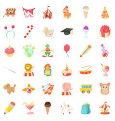 Birthday day icons set cartoon style vector
