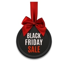 Black Friday sale round banner vector image
