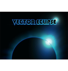 Blue ray eclipse vector image