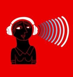 bluetooth headphones vector image vector image