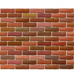 Brick wall pattern vector