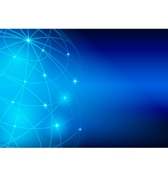 bright blue background - meridians and parallels vector image vector image