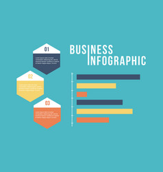 Business infographic step and graph design vector