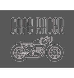 Cafe Racer Motorcycle Design vector image