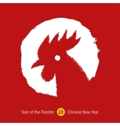 Chinese year of the rooster background vector