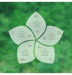 Circle eco infographic vector