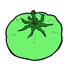 Comic cartoon green tomato vector