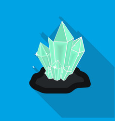 Crystals icon in flat style isolated on white vector