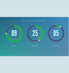 Design of countdown timer for coming soon or under vector
