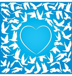 Flying dove for peace concept and wedding design vector image vector image