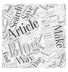 How to Use Articles to Make Money Blogging Word vector image