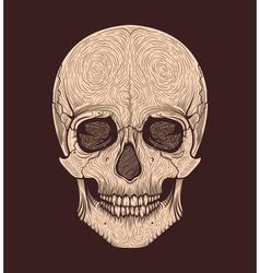 Human skull tribal styletattoo blackwork hand vector