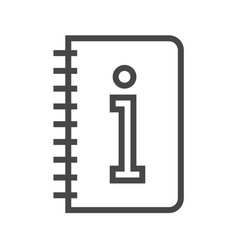 instruction book thin line icon vector image vector image