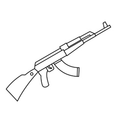 Kalashnikov ak 47 machine icon outline style vector