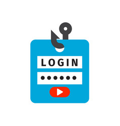 login lock icon security protection safety vector image