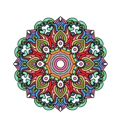 Mandala round zentangle ornament pattern vector