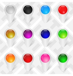 Map Markers GPS Pointers Set 1 vector image vector image