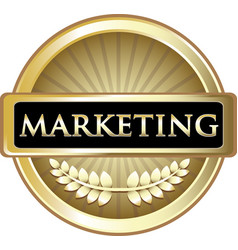 Marketing gold label vector