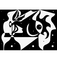 night abstract vector image vector image