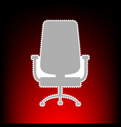 office chair sign postage stamp or old photo vector image