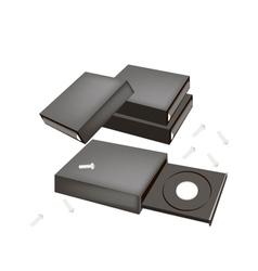 Open cd-rom disk drive for desktop computer vector