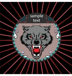 Portrait of a wolf vector image vector image
